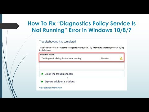 How To Fix The Diagnostic Policy Service Is Not Running On Windows