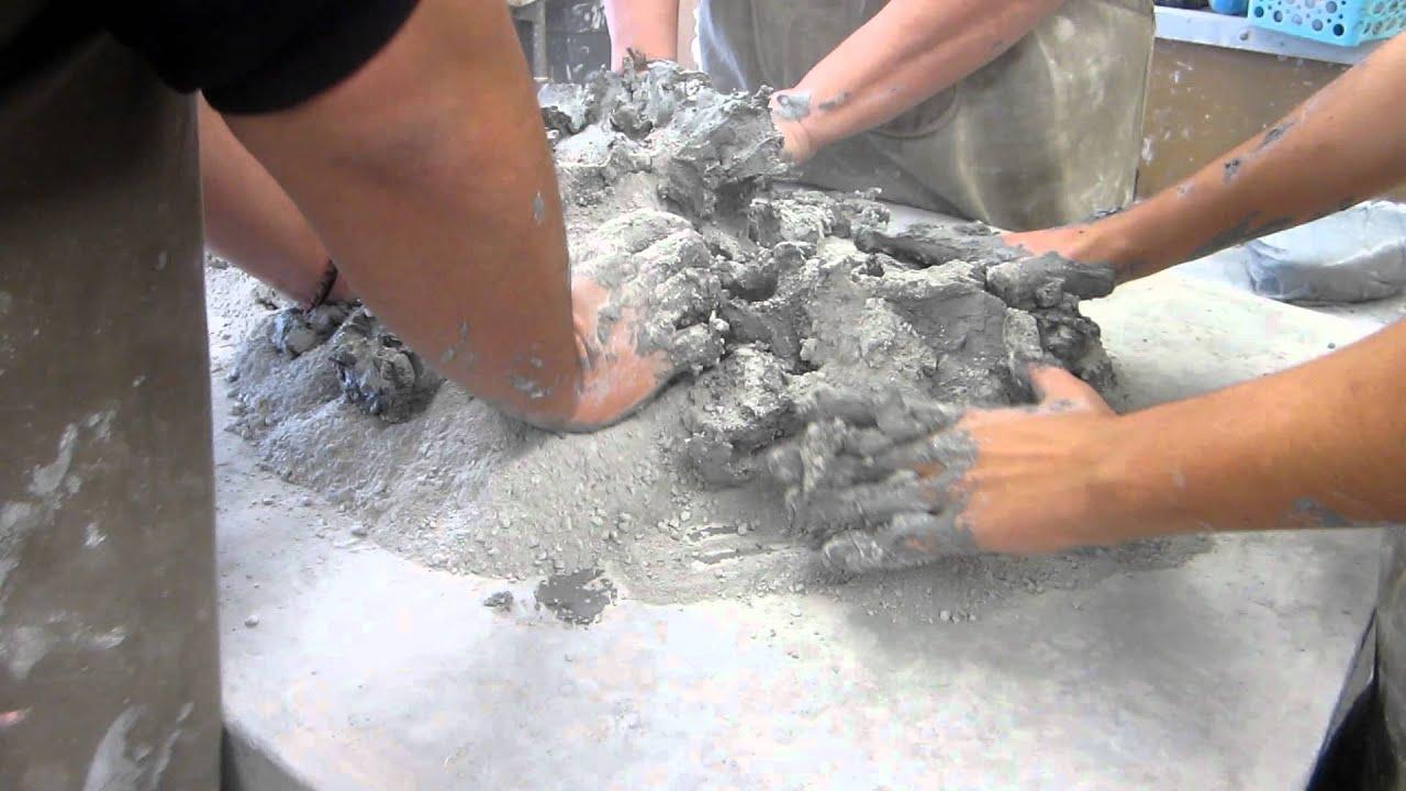 My Ceramics Students Recycling Clay Youtube