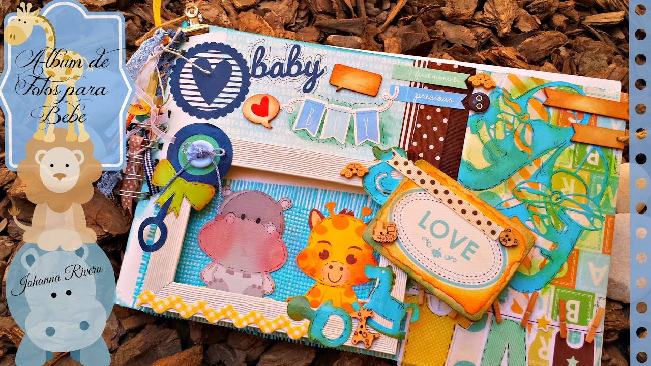 Album de fotos de bebe unisex proyecto scrapbook youtube - Album de fotos ...