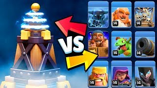 NEW MEGA TESLA vs All Troops ft.SUPER PEKKA | Clash Of Clans Update Comparison