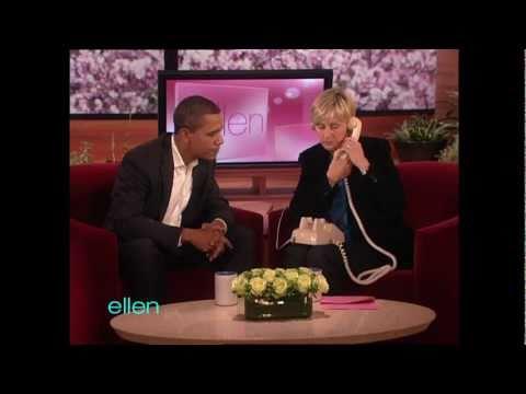 President Obama Talks to an Ellen Viewer