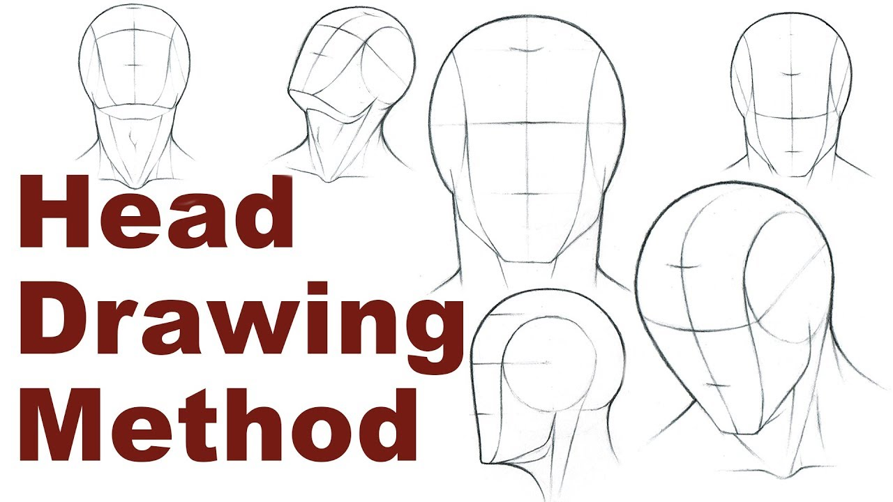 Portrait drawing basics 1 3 how to draw a simple head
