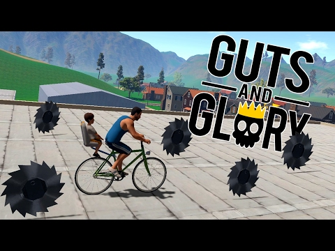 Guts And Glory - Jimmy's Deadly Bike Ride! - Let's Play Guts And Glory Funny Moments Gameplay