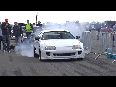 1250HP TOYOTA SUPRA TURBO 1 2 MILE 312 KM H
