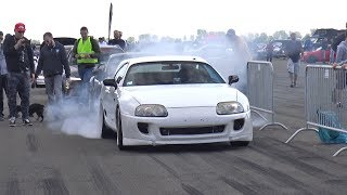 1250HP TOYOTA SUPRA TURBO 1/2 MILE @ 312 KM/H