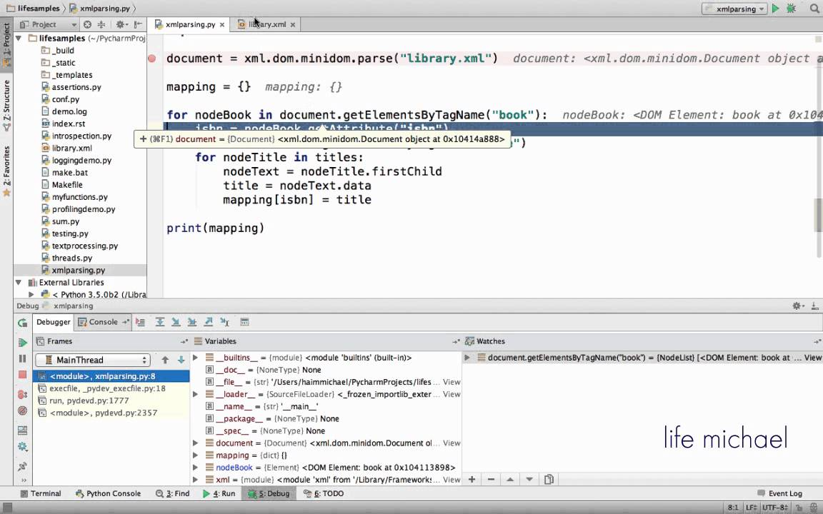 XML DOM Parser in Python - YouTube