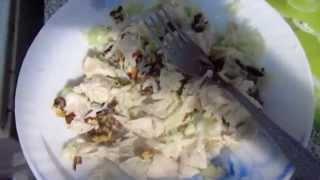 """Видео-рецепт: Салат """"Вальдорф"""" (курица, сельдерей, яблоко)"""