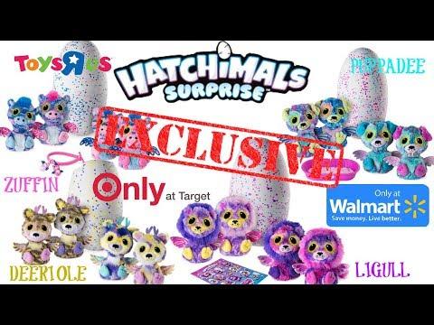 HATCHIMALS SURPRISE TWINS EXCLUSIVES Puppadee Zuffin Deeriole Ligull From Toys R Us Walmart Target