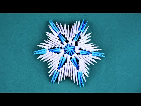 Snowflake Of Paper Assembly 3D Origami Tutorial For Beginners