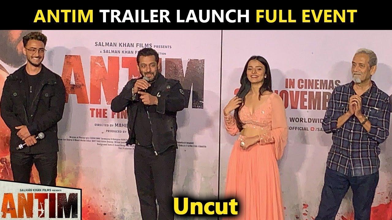 Download Antim Trailer Launch Full Event | Salman Khan, Aayush Sharma, Mahesh Manjrekar | UNCUT