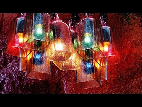 Recycled Bottles Made Into A Beautiful Chandelier, Easy DIY Project