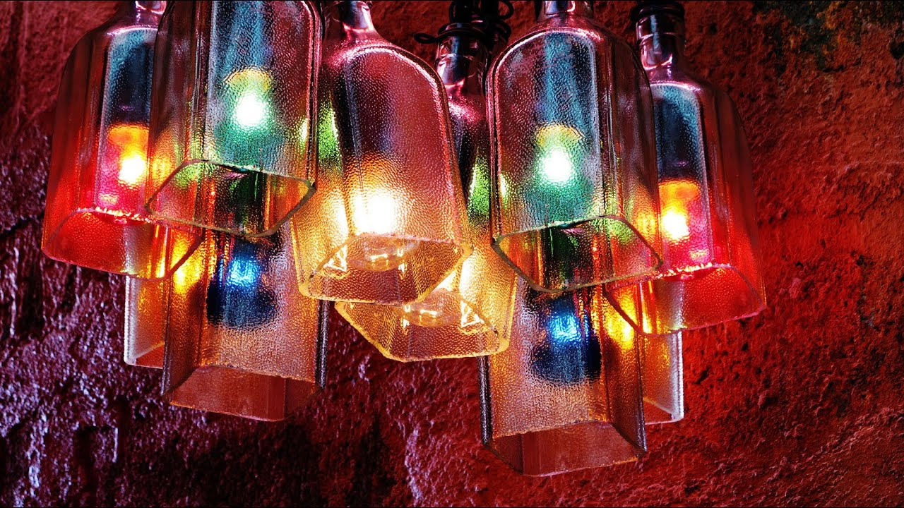 Recycled Bottles Made Into A Beautiful Chandelier Easy Diy Project You