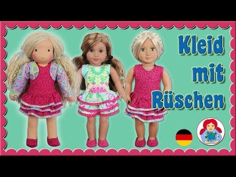DIY | Rüschenkleid für 46 cm Puppen (Amelie, American Girl, Our Generation) • Sami Doll Tutorials