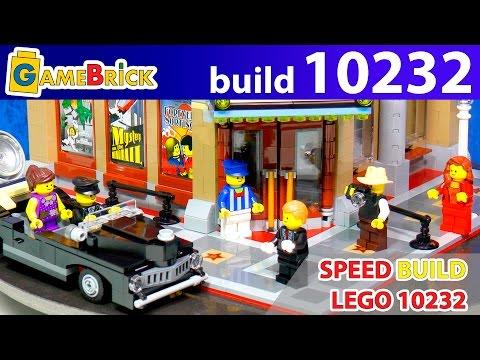 LEGO Creator Palace Cinema 10232 modular building speed build Review! [museum GameBrick]