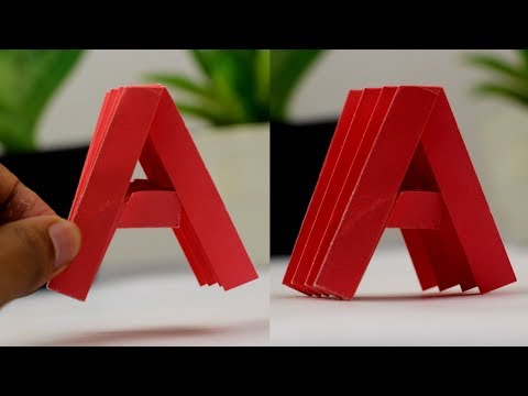 "How To Make Paper Letter ""A"" 