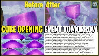 *NEW* CUBE OPENING TOMORROW POSSIBLE! *CRACKS ARE MASSIVE* | (Fortnite)