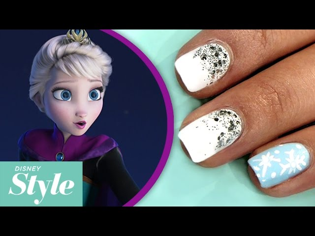 Diy frozen nail art beauty prinsesfo Images
