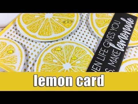lemon card   Altenew blog hop & Giveaway
