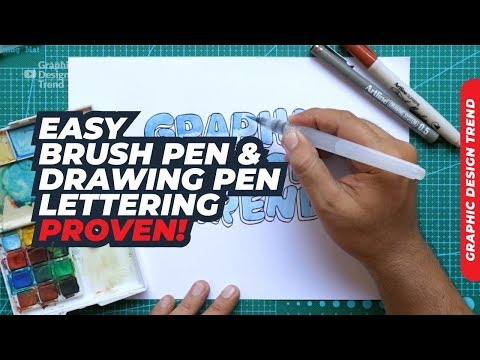 Watercolor Brush Pen Hand Lettering for Beginners - Graphic Design Trend