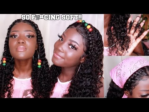 BTS hairstyles with this REALISTIC @ss wig! - sunber hair, The first sale in New York-Curly Wig!