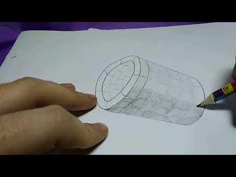 Как нарисовать колодец легко