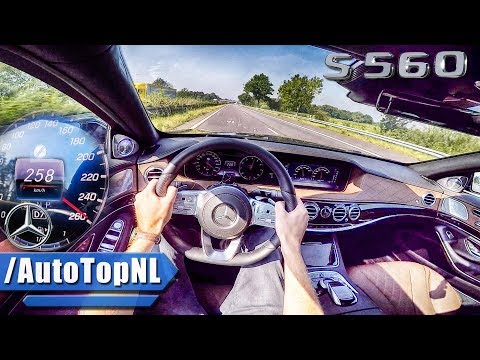 2018 Mercedes Benz S Class S560 AUTOBAHN POV TOP SPEED ACCELERATION by AutoTopNL