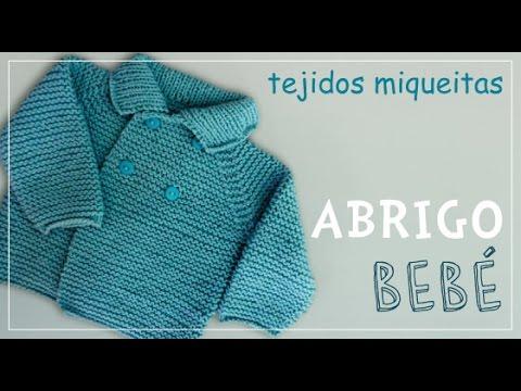 8706f2518 Tutorial para tejer abrigo para niño o niña en dos agujas (Subtitles ...