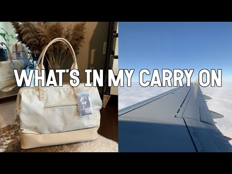 WHAT'S IN MY CARRY ON || NOEL LABB