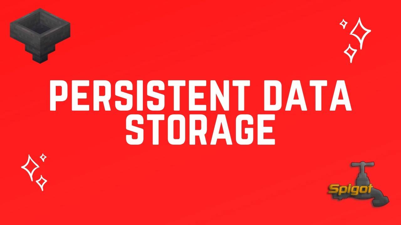 Spigot Plugin Development - 58 - Persistent Data Storage