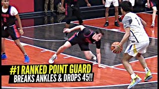 #1 Ranked PG Is a SAVAGE!! BREAKS ANKLES & GOES OFF For 45 POINTS & SICK DIMES! Daishen Nix!