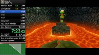 Croc 2 100% Speedrun 1:54:25 World Record