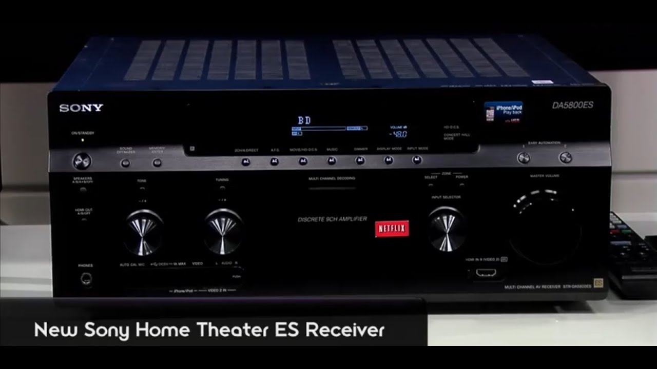 Exclusive Preview New Sony Es Receivers Av Receivers With Built