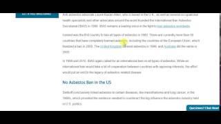 banning asbestos