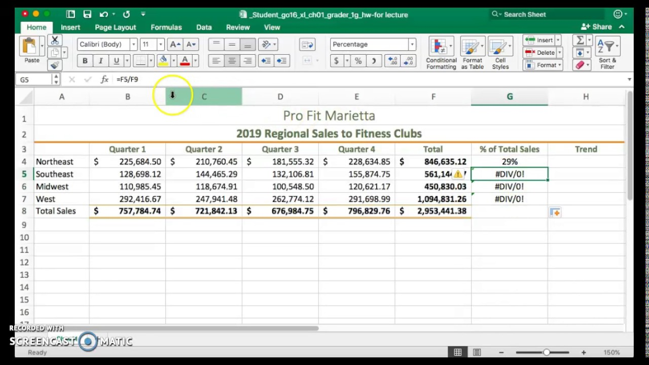 how to make an absolute reference in excel 2010