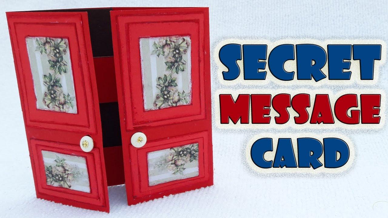 Secret Message Card Making Secret Door Card Tutorial by Craft Videos - YouTube & Secret Message Card Making Secret Door Card Tutorial by Craft ... pezcame.com