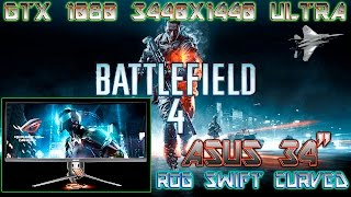 """BATTLEFIELD 4 PC GAMEPLAY (GTX 1080 3440X1440 ULTRA) ASUS 34"""" ROG SWIFT CURVED PG348Q"""