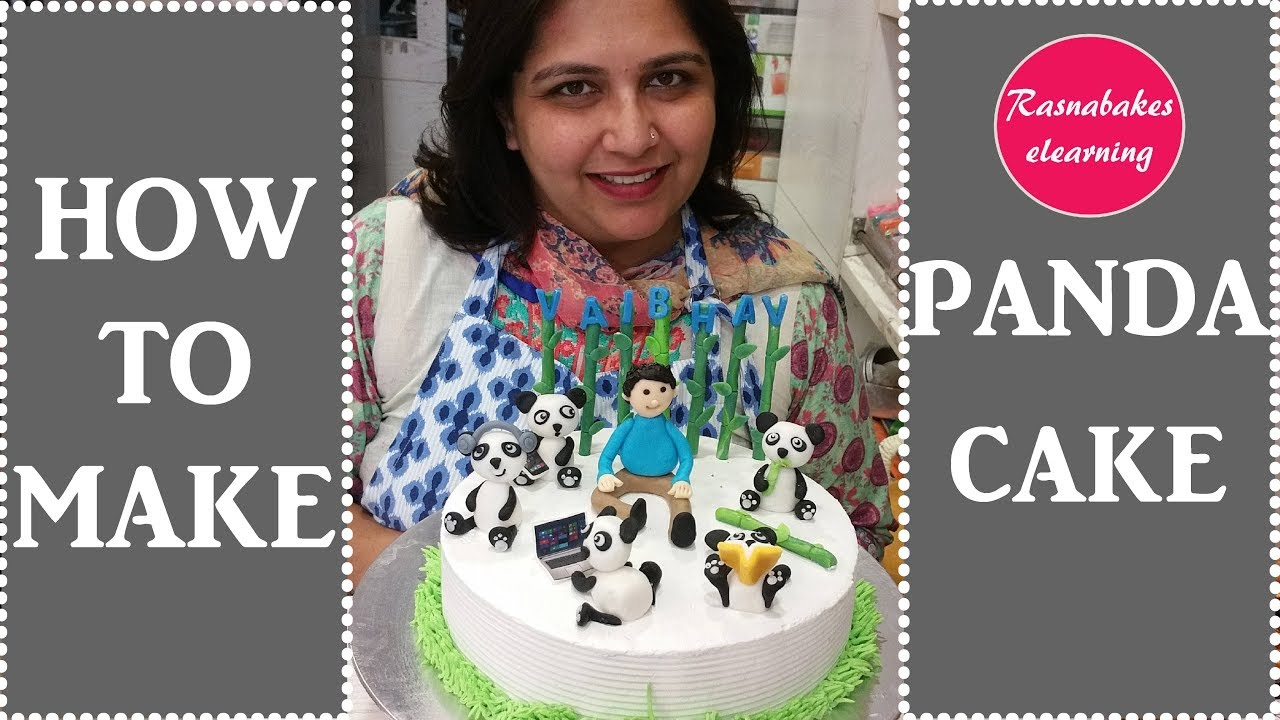 Panda Theme Birthday Cake For Menbakery Maker Videos Decorating Recipes Tutorials