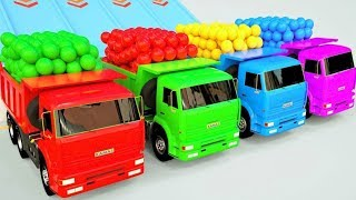 Transport Par Camion Et La Voiture Ballons De Foot