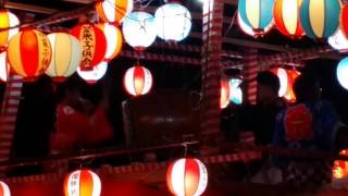 城内町会盆踊り兄妹打ち心は360度2016年8月15日