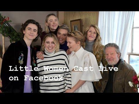 Timothée Chalamet, Saoirse Ronan, Greta Gerwig Little Women Cast Live At Orchard House!12/5/2019