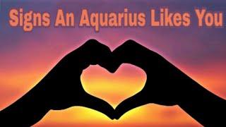 That likes you aquarius man Signs