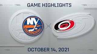 NHL Highlights   Islanders vs. Hurricanes - Oct. 14, 2021