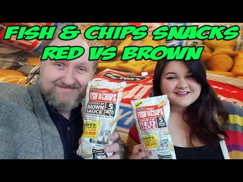 Burton's Fish And Chips Red And Brown Sauce Taste Test
