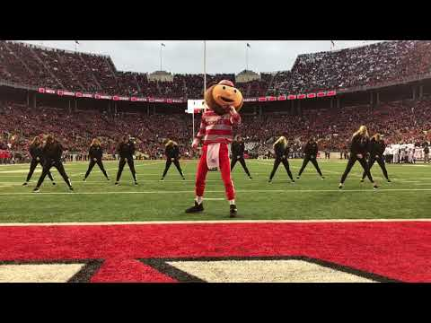 Ohio State Dance Team + Brutus - Ohio State v. Penn State (10/28)