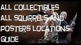 The Walking Dead Survival Instincts All Collectibles (All Squirrels And Posters Locations)