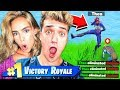 1v1 GIRLFRIEND BATTLE PASS CHALLENGE (Fortnite Playground)