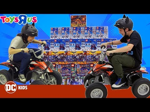 "Driving Through A Wall Of Toys!! Toys ""R"" Us Challenge 