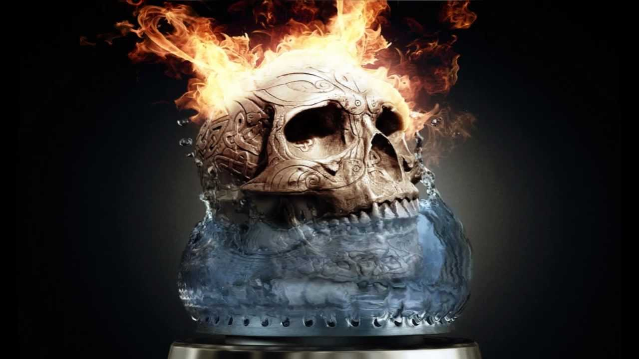 cool wallpaper fire skull - photo #12