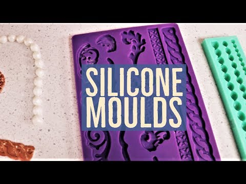 Cake! TV: How To Use Silicone Moulds Pearl Ropes And Brooch With Fondant And Edible Gels
