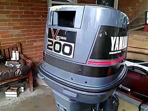1986 yamaha 200 hp youtube for Yamaha 200 outboard for sale